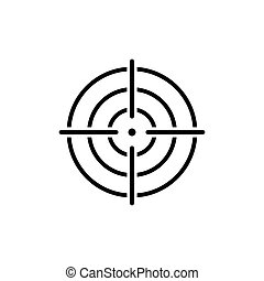 Target icon symbol vector on white
