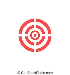 Target icon - vector background.