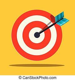 Target Icon. Vector Flat Design Illustration.