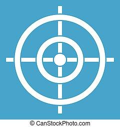 Target icon white