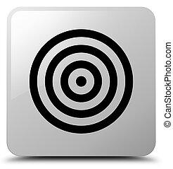 Target icon white square button