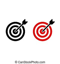 Target icon with arrow