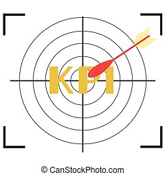 Target icon with word KPI.