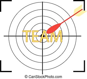 Target icon with word TEAM.