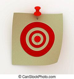 target., immagine disegnata, foglio, 3d