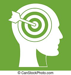 Target in human head icon green