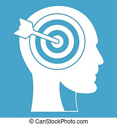 Target in human head icon white