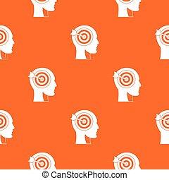 Target in human head pattern seamless