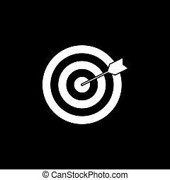 Target keyword solid icon