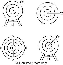 Target Line Icons