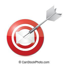 target mail illustration design over a white background