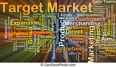 Target market background concept glowing