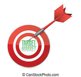 target market concept illustration design over white