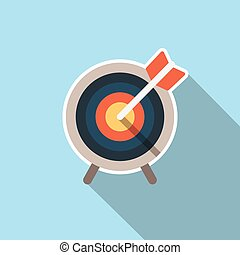 Target market icon with arrow and stand