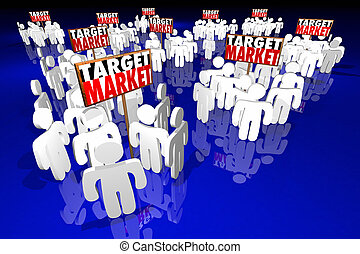 Target Market People Customers Clients Prospects 3d Illustration