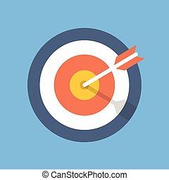 Target marketing icon. Target with arrow symbol. Modern flat...