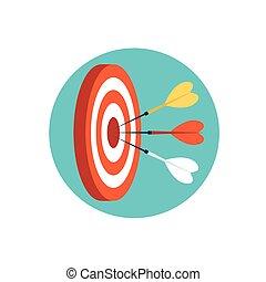 Three darts hit the target.