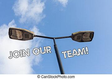 target., någon, förena, invitera, text, visande, arbete, tillsammans, underteckna, team., ämna, detalj, begreppsmässig, vår, foto