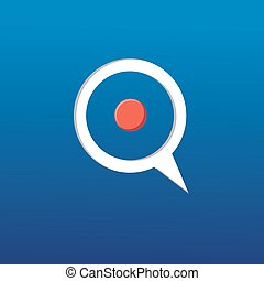 Target on a blue background