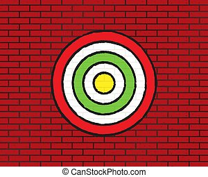 Target on a brick wall