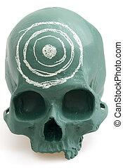Target on Chalkboard Skull