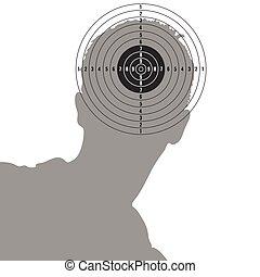 target on man head illustration