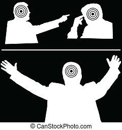 target on man illustration