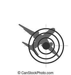 target on plane silhouette