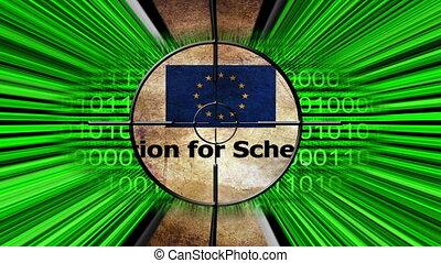 Target on Schengen visa online concept