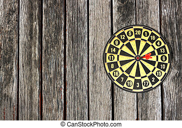target on Wood background