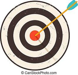 target., ouderwetse , retro, illustratie