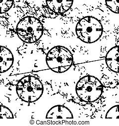 Target pattern, grunge, monochrome