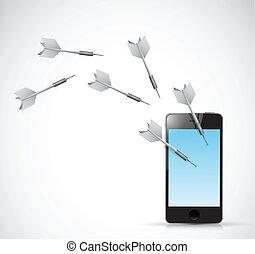 target phone illustration design