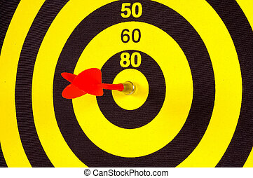 Target - Photo of a Dart and Dart Board
