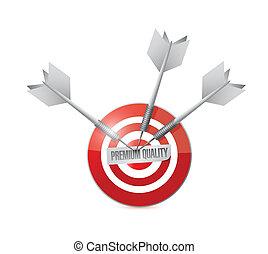 target premium quality. illustration design