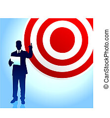 Target profits background with business executives