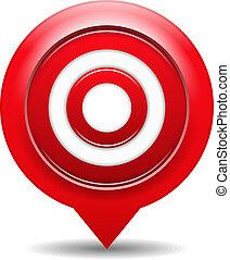 target, rød