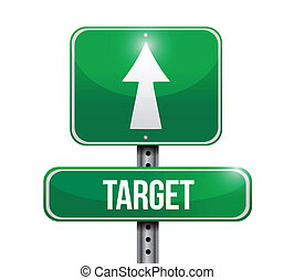 target road sign illustration design
