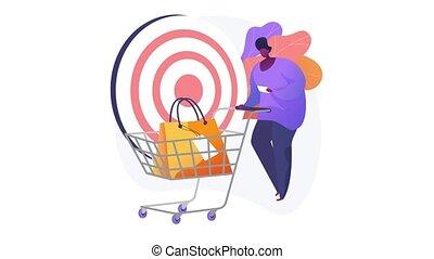 Target sales 4K loop animation.