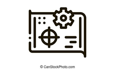 target selection Icon Animation. black target selection animated icon on white background