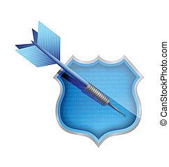 target shield illustration design