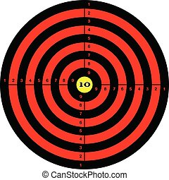 Target shooting in red color