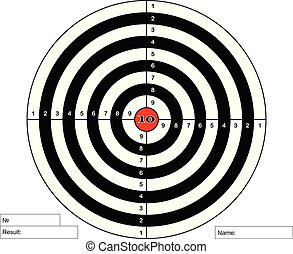 Target shooting with red centre, vector