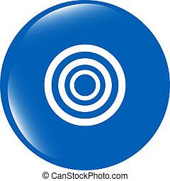 target sign icon. Pointer symbol. Modern UI website button
