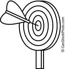 Target solution icon, outline style
