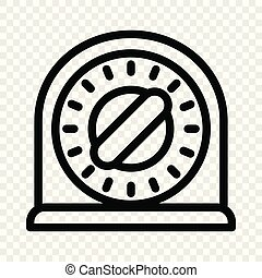 Target stand icon, cartoon style