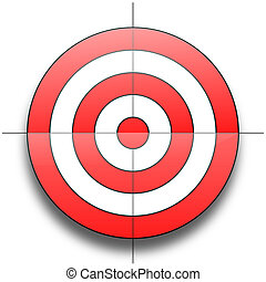 Target - Red and white round target isolated over white...