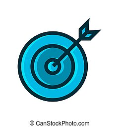 target symbol blue icon vector illustration isolated on white background