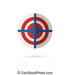 target symbol on white background