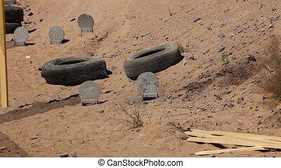 Target - target practice in a sandpit shooting range